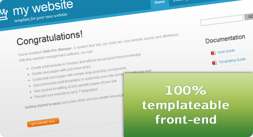 Templateable front-end